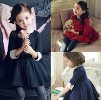 Children's winter Dresses Retro doll collar tutu dress super...