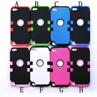 Wholesale 3 in Hybrid Hard Soft Back Cover Case for ipod touch