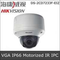 CMOS   Hikvision DS-2CD7233F-EIZ 1 4 Progressive Scan CMOS Vandal-proof IR IP CCTV Camera VGA Resolution Motorized V F lens Support POE