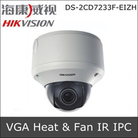 Cheap Hikvision DS-2CD7233F-EIZH 1 4 Progressive Scan CMOS Built-in Heater&Fan Optional IP CCTV Camera Motorized V F lens Support POE