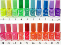 Wholesale Candy Color colors BK Brand Luminous Nail Polish Fluorescent Nail Art Nail Enamel Color Club Nail Lacquer Set Glow At Night Nails