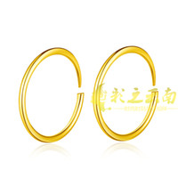 Wholesale Eventually becoming faded personality popular tide models plated glossy gold plating earring earrings small circle shakin