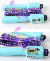 free ship automatic counting rope skipping Fitness rope jump ropes Fitness Equipments adjustable