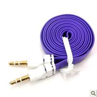 3. 5mm AUX AUXILIARY audio CABLE flat Noodle Male to Male Ste...