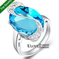 Three Stone Rings Women's Engagement Silver Ring for Women CZ Amethyst Red Blue Crystal Stones Oval 14*19mm 8.15g S925 Sterling Silver Wedding Engagement Jewelry