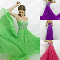 Green Chiffon Beaded Prom Dresses Under 130$ 2014 New Fashio...