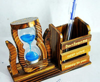 Wholesale New wooden craft hourglass sand timer cooking crafts home furnishing fashion must storage box wsd225