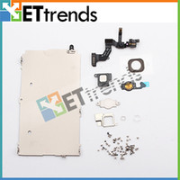 Wholesale Full Set Repair Parts for iPhone LCD Display amp Touch Screen Digitizer Assembly Front Camera Flex Cable Ear Speaker Home Button AA0093