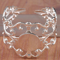 Wholesale Finding Silver Plated Fancy Filigree Bases mm Pad Adjustable Ring Blanks
