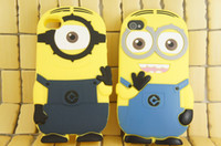 Wholesale New Arrival D Cute Cartoon Despicable Me Minion Soft Silicone Back Cover For Apple Iphone S Mobile Phone Cases Protector