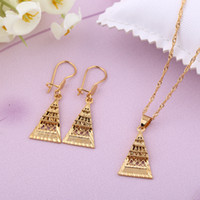 Wholesale Hot Sale Gold Jewelry Set k Egyptian Pyramids Women Necklace Set Lovely Girls Fashion Jewelry Set for Party G659