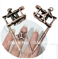 Wholesale one pair of copper colored mini earrings tattoo machine accessories Hot Supply