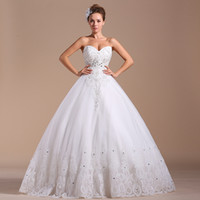 Ball Gown Model Pictures V-Neck Pnina tornai Wedding Dresses Bud silk Sweetheart Ball Gown White Grid Yarn Tulle Lace-up Backless Shining Crystal Floor Length