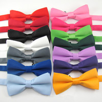 Wholesale 16 Fashion Color solid High quality bow tie men bowtie womencommercial bow tie male solid color marriage bow tie