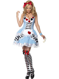 Wholesale Sexy Alice in Wonderland poker princess maid costume Halloween fairy costume
