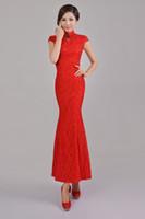 Promotion! Luxury and Elegant Silk Slim Chinese Long Cheongs...