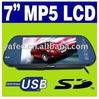 "12V other Parking Assistance Free Shipping New Car 7"" Rear View Mirror MP5 USB SD Car MP5 Player LCD Screen Monitor O-484"