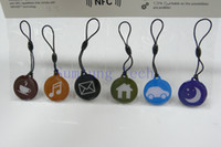 Wholesale 6 NFC Hang tags Ntag203 for ALL NFC Phones and Tablets work on SamlungS4 Blackberry Nexsus4 Nokia Lumia Waterproof