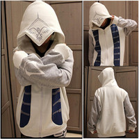 Wholesale 013 New Assassins Creed III Connor Hoodie Cosplay Costume Top Coat Jacket