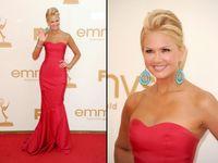 Wholesale new Red Greek Odile Strapless Mermaid Trumpet Floor Length Elastic Woven Satin Emmy Awards Dress online