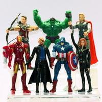 (7pcs set) The Avengers Heros America Iron Man Hulk Captain ...