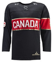 Wholesale 2014 Sochi Winter Olympics Hockey Jersey Black Blank Ice Hockey Jersey Team Canada Jerseys Hot Sale Players Sports Jerseys Mix Order