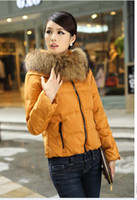 Wholesale new women s feather coat heavy hair brought brief paragraph down jacket color optional