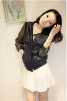 Wholesale 2014 New Arrival Fashion Korean Style Women s Winter Slim and Short Coat Overcoat Leather Jacket Black