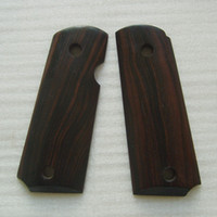 Wholesale colt compact officer ebony wood grips