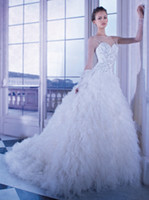 Cheap 2014 Demetrios Hot Sale Sheer Neckline and Long Sleeve Puffy Ball Gown Wedding Bridal Gowns with Beads