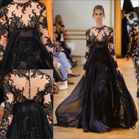 Cheap Reference Images black evening dress Best Crew Tulle long sleeve evening gown