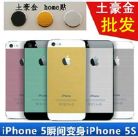 Wholesale New design X mas Christmas gift Gold sticker Champagne Golden screen protector film skins for iphone S S iphone5s free DHL