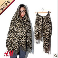 Wholesale 2012 cashmere autumn and winter leopard print scarf double faced vlsivery large cape fashion female