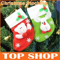Wholesale Santa Socks Christmas cm Velvet thickening Socking Christmas Tree Ornaments Socks Christmas Gift Bags