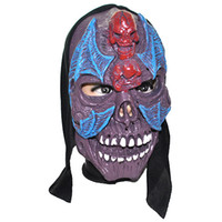 Wholesale Mouth open Vinyl Horror Skull Mask with Bat Party Costume Mask party supplies