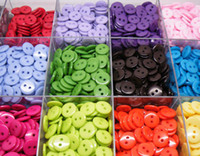 Wholesale 15MM mixed candy colors sewing button bulk buttons sewing accessories Resin Buttons