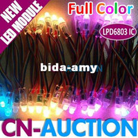 Wholesale FS Waterproof RGB Full color LPD6803 IC pins LED Pixel Module1 DC5V mm Outdoor Lamp LED Exposed Light CN LM19