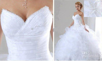 2014 Sexy Tulle Bridal Gown ruched sweetheart ball gown wedd...