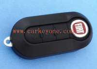 Wholesale High quality Fiat button remote key shell SIP22 folding blade black car key blank