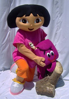 Wholesale Professional Costomized The Explorer Dora Cartoon Mascot Costumes Plush Adult Size Costume
