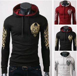 Wholesale TV Game Fan Gift Assassins Creed III Slim Tattoo Slim clothes Hoodie coat fashion print hooded pullover sweatshirt
