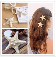 Barrettes & Clips Women's Party Wholesale - hot new starfish hair pin sea star hairclip hair accessories asteroid hair jewelry Natural sea star clip pictures