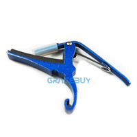 Wholesale Blue Quick Release Capo for Acoustic Folk Electric Guitar Change Key Trigger Clamp Brand New