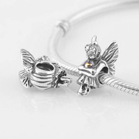 Wholesale Newest Original Silver Fairy Pixie Charm Stamped S925 ALE Fits Pandora Style Bracelet Genuine Sterling Silver LW276