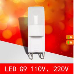 Wholesale G9 crystal LED lamp Dimmable W W light beads pardew ceramic g9 light beads LED Bulb High Power v v v Energy Saving light