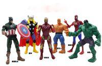 6pcs set The Avengers Marvel Hero Captain Spiderman the Hulk...