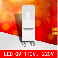 cristal G9 ampoules LED lampe Dimmabl 2W 4W perles de lumière de céramique Pardew Remplacer lampe halogène 30W haute puissance 85-265V 110v 220v Energy Saving lumière