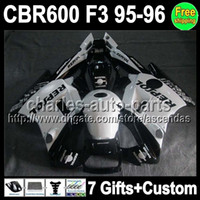 7gifts+ Custom Fairing 95 96 For HONDA Repsol White CBR600 F3...