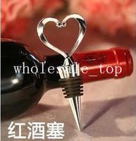 Aluminum Bottle Openers ECO Friendly Wholesale Free Shipping 1 Piece New Metal Red Wine Cork Screw Bottle Stopper Corkscrew Opener