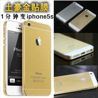 For Apple iPhone Full Body  Chrismas Champagne Gold Skins Golden Sticker for Iphone 4 4S 4G 5 5G 5S Cell phone Full Body Screen Protector Film protection
